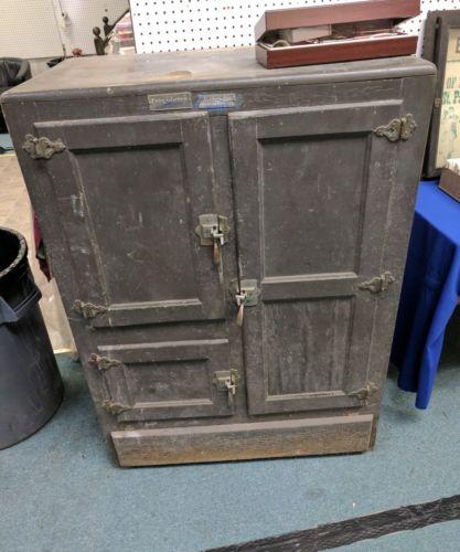 McKee Seemless Antique wood Ice Box Frigidaire