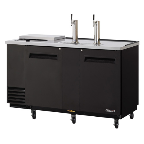 Turbo Air TCB-3SB, Black 69-inch Club Top Beer Dispenser - 3 Kegs
