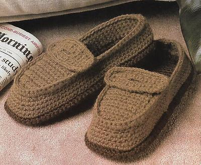 *Mens Penny Loafer Slippers crochet PATTERN INSTRUCTIONS