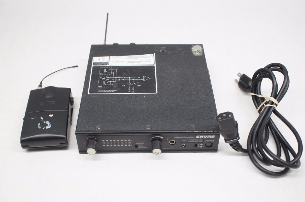 Shure P6T-HC PSM600 Transmitter & P6R-HC Bodypack Receiver 642.275MHz 646.500MHz