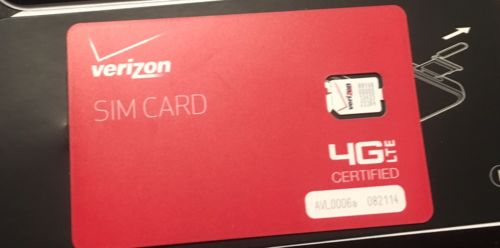 NEW Verizon 4G LTE Nano SIM Card 4FF Used In Phone, Tablet, Iphone, Android,