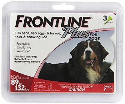 Merial Frontline Plus Flea and Tick Control for 89 to 132-Pound Dogs and Pupp...
