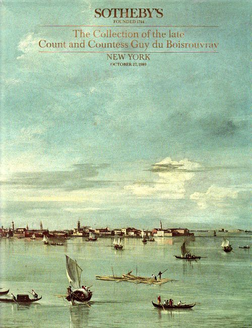 SOTHEBY'S COUNT & COUNTESS GUY DU BOISROUVRAY ART COLLECTION IMP OLD MASTERS +HB