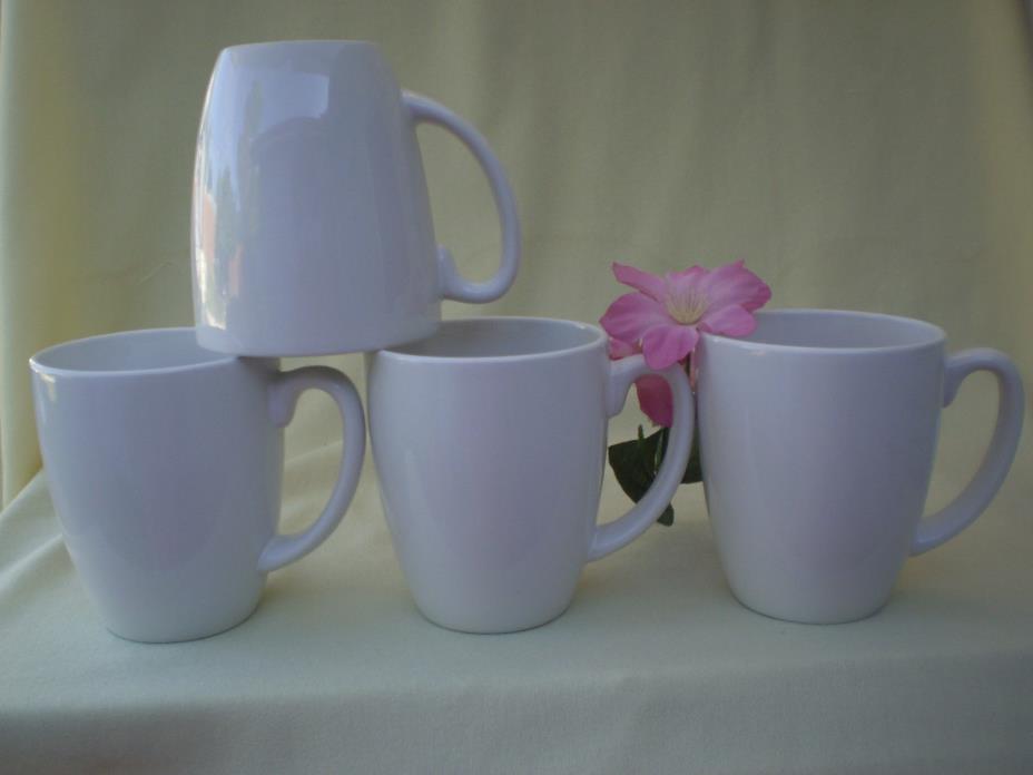 Corelle Coordinates Dishes White Set Of 4 Ceramic Cups Mugs