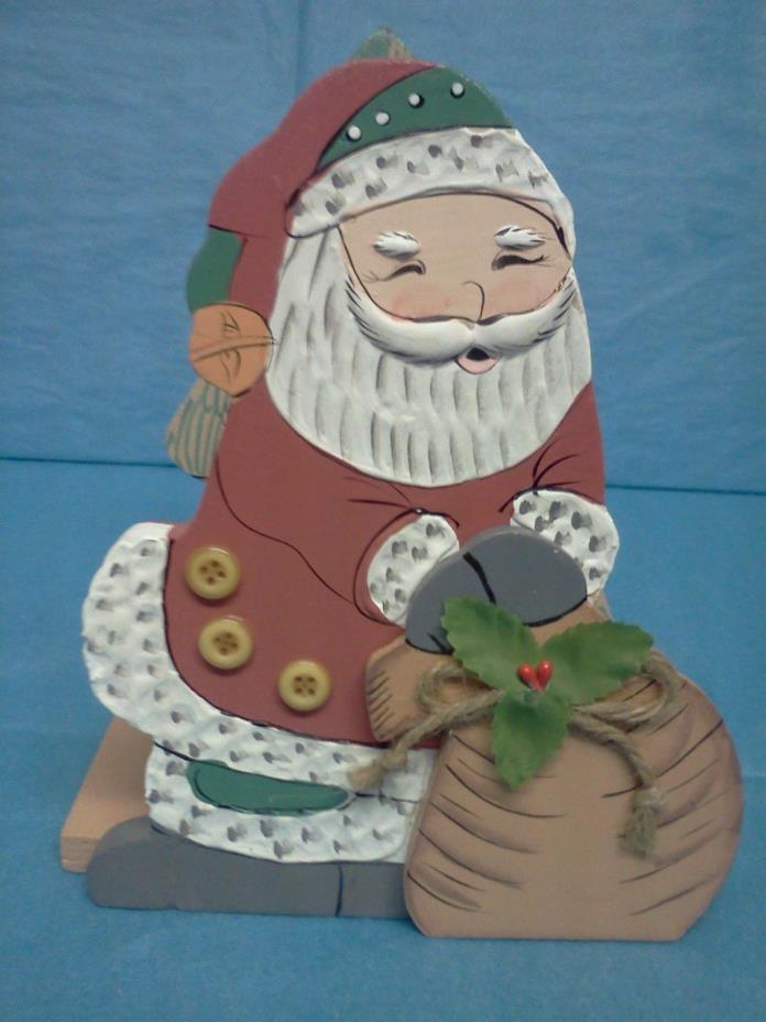 Wood Santa Christmas Decor Napkin Holder Letter Holder Magazine Holder