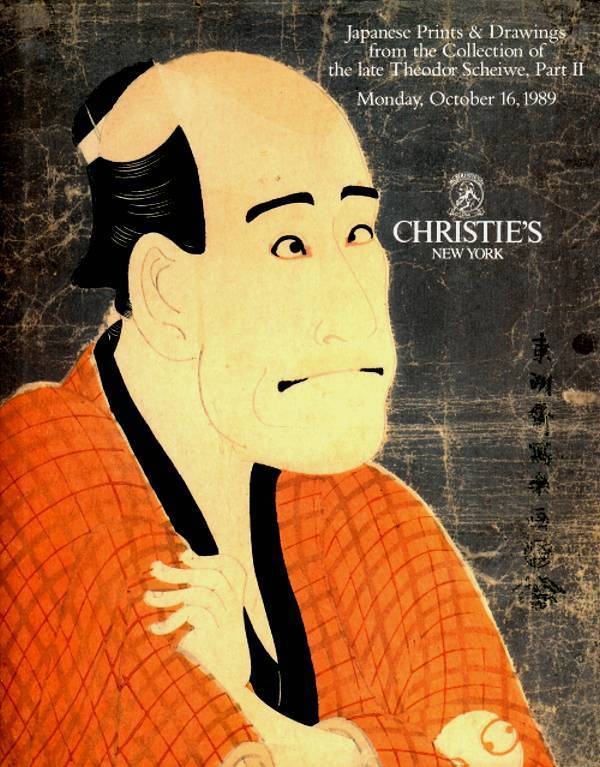 CHRISTIE'S JAPANESE PRINT & DRAWINGS THEODOR SCHEIWE COLLECTION : RARE HARDBACK