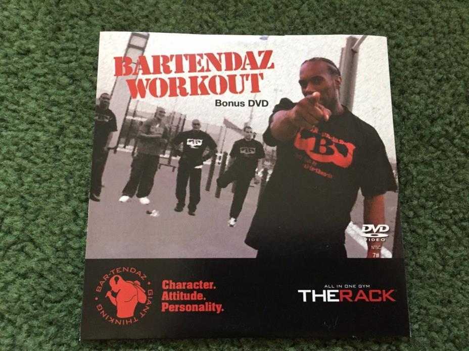 BARTENDAZ WORKOUT THE RACK WORKOUT FITNESS BONUS DVD