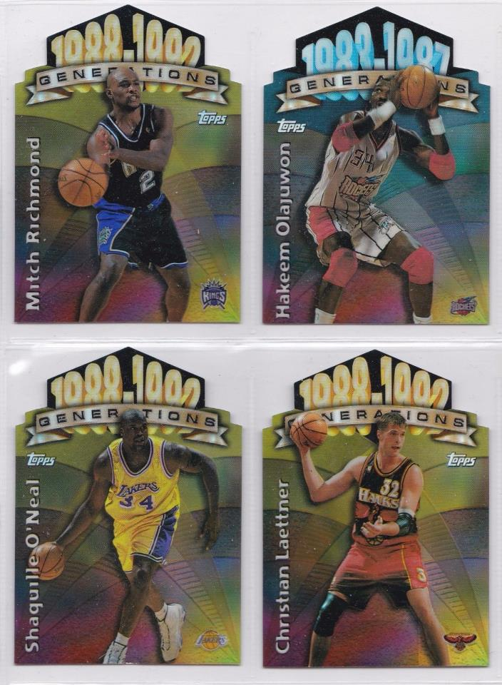 1997-98 Topps Generations Refractor die cut Insert lot Shaquille Oneal SP Hakeem