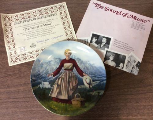 Vintage 1986 The Sound of Music Ltd. Edition Plates Knowles (Set of 8)COA's, Etc