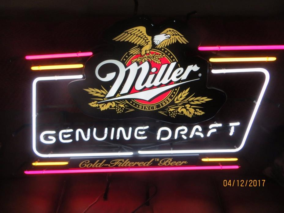 Miller Genuine Draft Beer Signs For Sale Classifieds