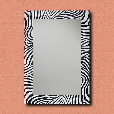 World Menagerie Rectangle Zebra Decorative Wall Mirror