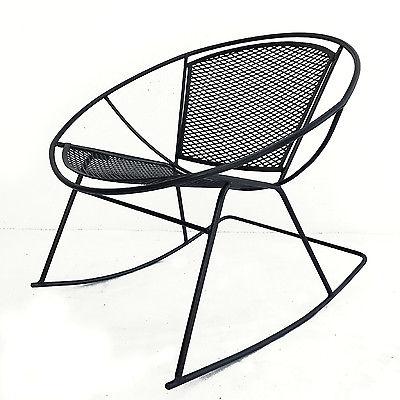 Salterini Hoop Rocking Chair Mid Century Modern Patio Radar Rocker 1950s-60s