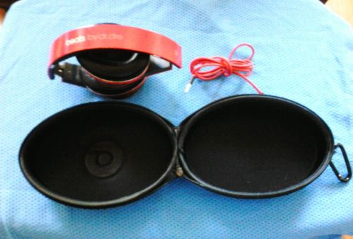 Beats Studio by Dre Wired Used Red w/case Awesome Sounds