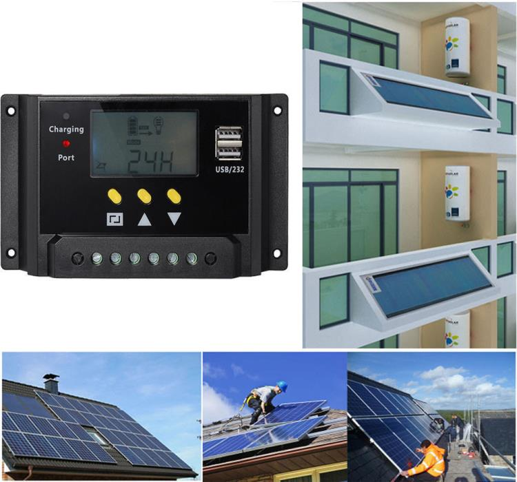LCD  Solar Panel Controller Regulator Charge Battery ProtectionYX