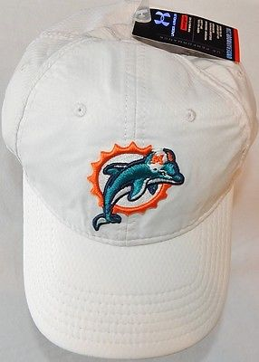 MIAMI DOLPHINS TEAM ISSUED 2010 UNDER ARMOUR HeatGear Adjustable White Hat Cap