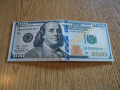 $100 Dollar Bill *STAR NOTE WALLET YOU GET 2 free ship