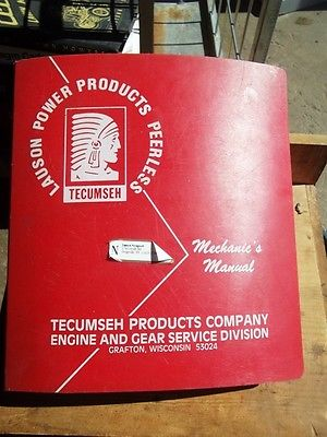 Tecumseh Mechanics manual/handbook