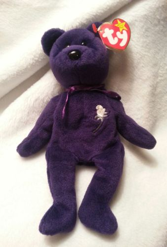 Rare 1997 1st Edition Princess Diana Retired Beanie Baby- Mint