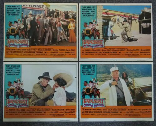 1976 The Great Scout and Cathouse Thursday, Orig Lobby Cards Set 1 LEE MARVIN