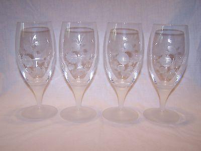 Avon Hummingbird Crystal Iced Tea Glass - Set of 4
