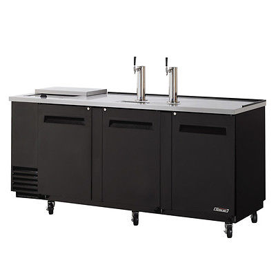 Turbo Air TCB-4SB, Black 90-inch Club Top Beer Dispenser - 4 Kegs