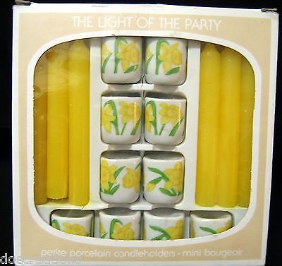 Bavarian Village Kauschert Porcelain West Germany Mini Candle Holders -Set of 10
