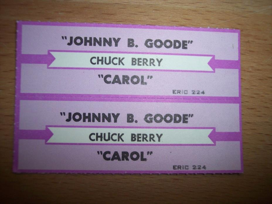 2 Chuck Berry Johnny B. Goode Jukebox Title Strips CD 7