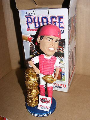 Texas Rangers Ivan Pudge Rodriguez Gold Glove Bobblehead SGA 8/12/14 HOF