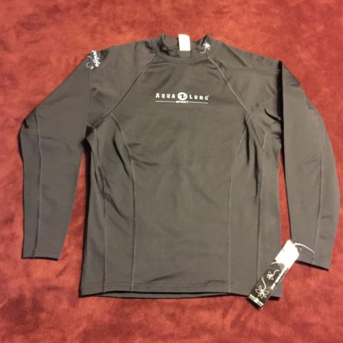 NWT Aqua Lung Sport Womens SMALL Long Sleeve Rashguard For Watersports NEW