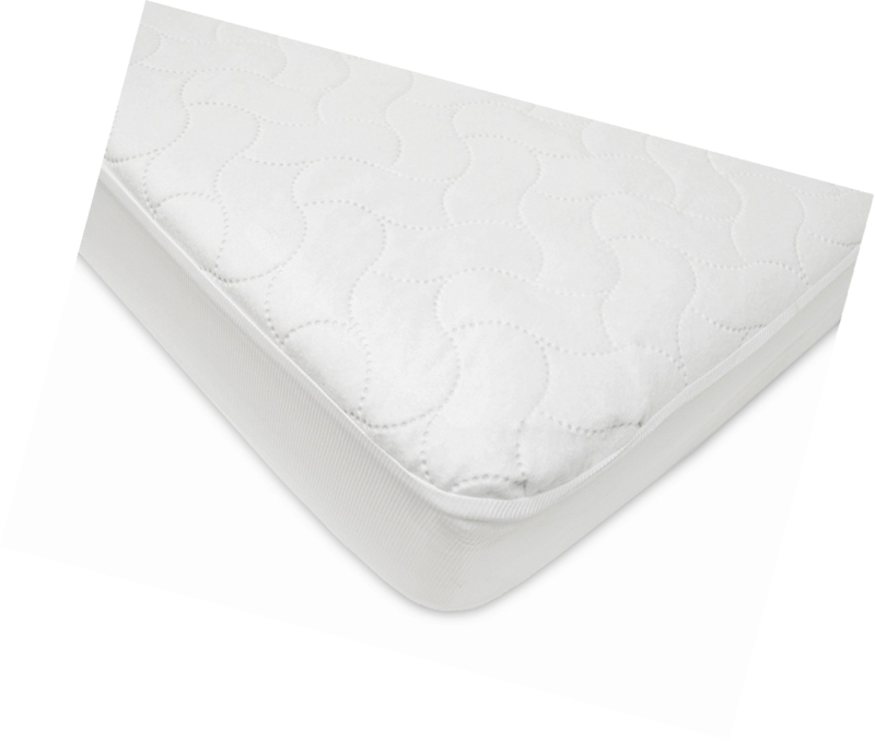 Crib Mattress Pad Cover Waterproof Protector Pad Baby Toddler Home Fitted White