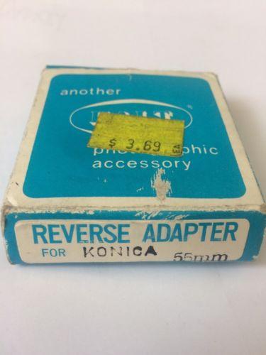 Konica Reverse Adapter & Hakuba UV FILTER 55mm