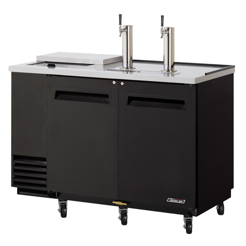 Turbo Air TCB-2SB, Black 59-inch Club Top Beer Dispenser - 2 Kegs