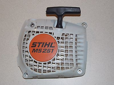 Stihl MS 251 Used chainsaw parts recoil rewind starter assembly 1143 084 7801
