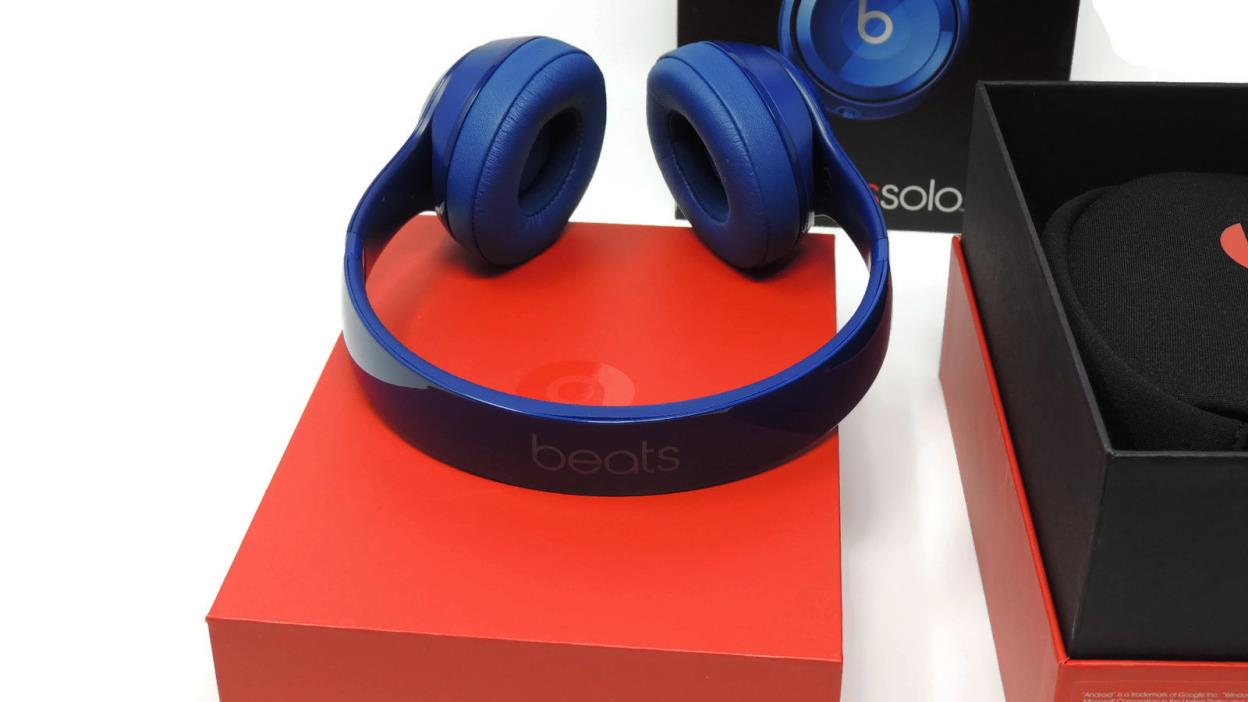 Genuine beats by Dr. Dre Solo 2 Headband Wired On-Ear Headphones- Blue