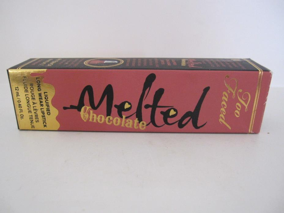 Too faced melted Chocolate metallic Lipstick in chocolate Milkshake 12ml/.40 fl