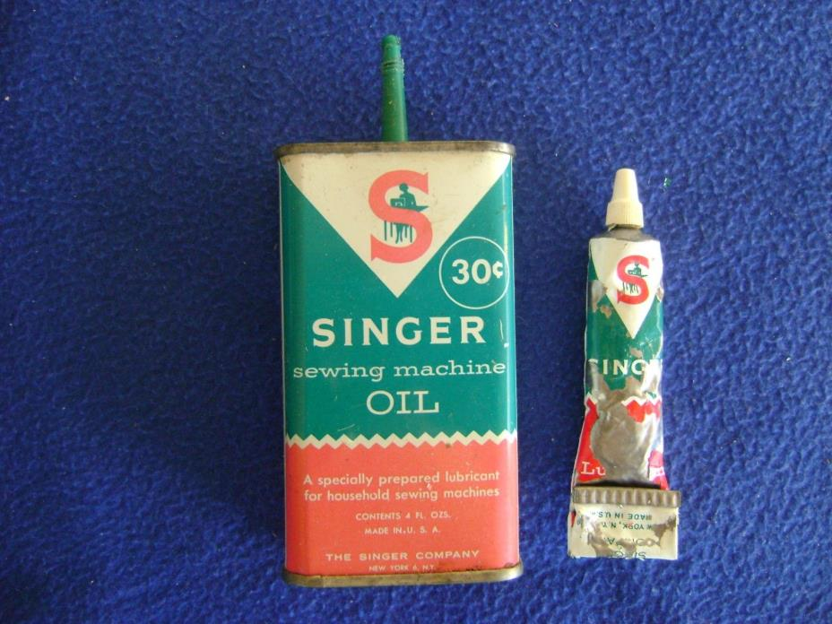 Vintage Singer Sewing Machine Oil & Singer Lubricant:  Partial amounts remaining