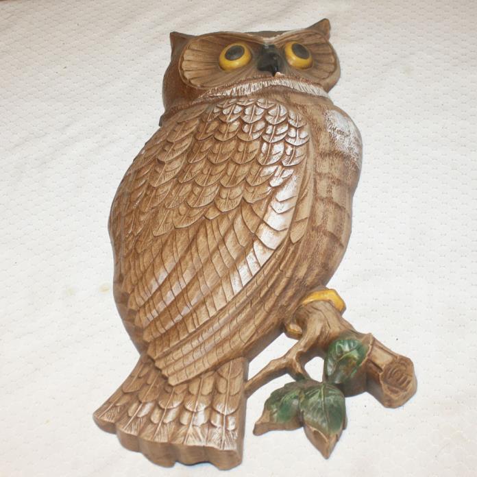 Vintage Syroco Owl Wall Hanging 1966