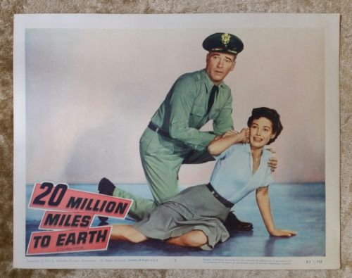 20 MILLION MILES TO EARTH - 1957 Original Lobby Card #5 Sci-Fi WILLIAM HOOPER