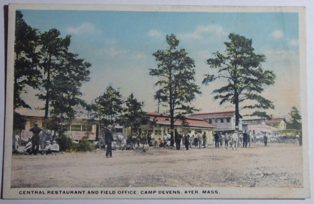 1915 CENTRAL RESTAURANT AND FIELD OFFICE CAMP DEVENS AYER MASSACHUSETTS