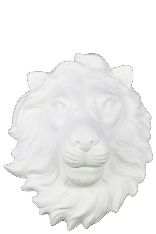 Trendy Ceramic Lion Head Wall Decor