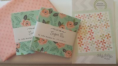 Dilly Dally Quilt Kit by Thimble Blossoms, with Moda Sugar Pie fabric