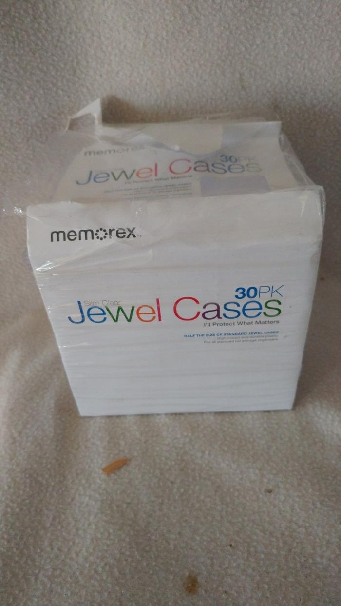 Slim Clear jewel cases opened package 25 total remaining memorex