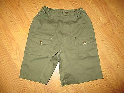 Boy Scouts Official Uniform Green Shorts NWOT Size 16 waist 28