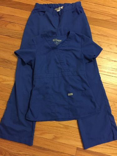 Greys anatomy scrubs small S Royal Blue EUC