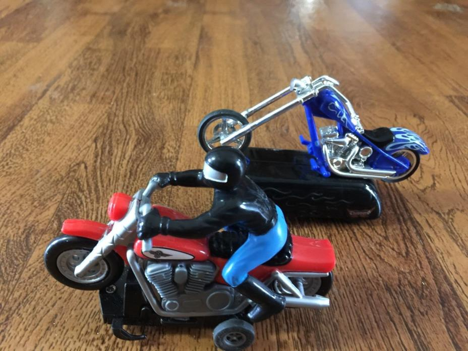 artin style brand 1:43 slot car toy racer chopper motorcycle harley