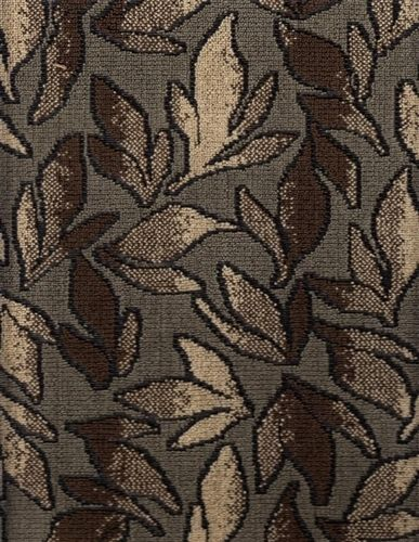 5.875 yds Botanical Upholstery Fabric Woodland Leaves Bronze Brown AM6
