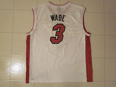 Vintage DWYANE WADE #3 MIAMI HEAT Reebok AUTHENTICS NBA Basketball Jersey LARGE