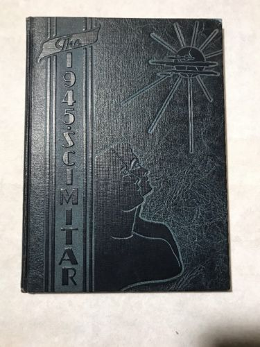 Vintage 1945 Lorain High School Yearbook Lorain Ohio Scimitar No Signatures