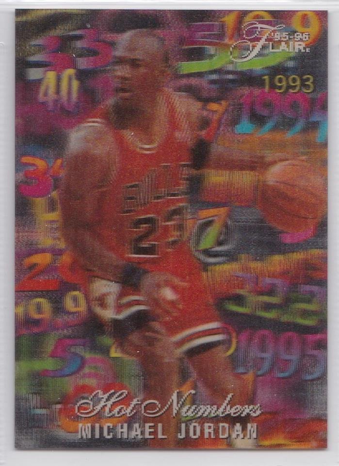 1995-96 Flair Michael Jordan Hot Numbers Insert MINT PSA 10 ? BGS 9.5