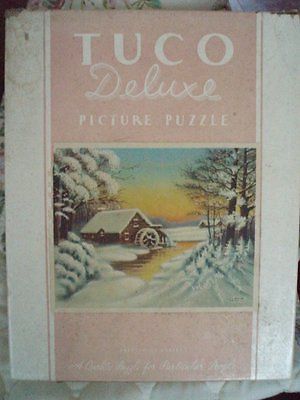 Tuco Brand Vintage Jigsaw Puzzle The Snowbound Mill